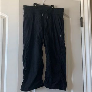 Lululemon Black Studio Crop Size 6